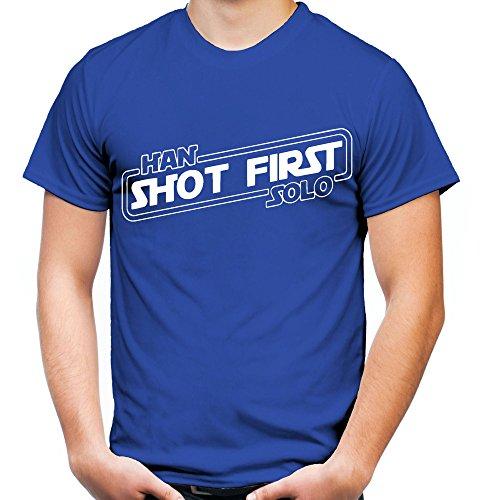 Han Shot first Männer und Herren T-Shirt | Comic Vintage Empire Geschenk | M1 (XL, ()