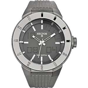 Hector H - 665364 - Montre Homme - Quartz Analogique - Cadran Gris - Bracelet Plastique Gris