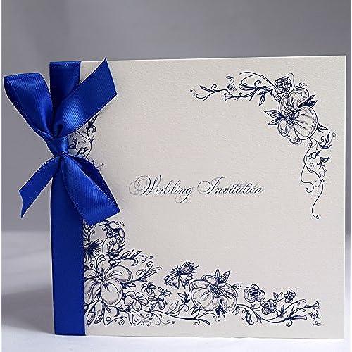 Royal Blue Wedding Invitations: Amazon.co.uk