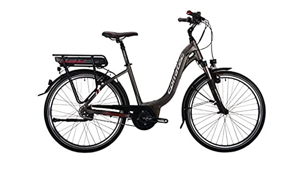 51 Schwarz matt//Silber//Dunkel Rot Corratec Herren E-Power 28 Urban Active 8s Coaster 400 Gent Fahrrad
