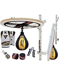 RDX 10PC Boxe Poire De Vitesse MMA Sac Frappe Plateforme Double End Speed Bag Entrainement