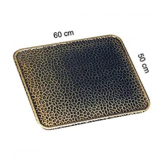 51uMQV6oOaL. SS324  - Kamino - Flam - Placa protectora contra chispas (50 x 60 cm), Antichispas de suelo para chimenea, Protector para chimeneas - resistente a altas temperaturas - latón viejo