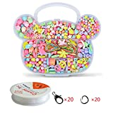 Wcocow Kit di perline e dadi con lettere per creare braccialetti, collane, colori misti Bear Shape