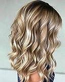 YoungSee 100g/Bundle Haartressen Echthaar Remy Extensions Blond mit Braun Echthaar Tressen zum Einnahen Gute Qualitat Glatt Haare 60 cm