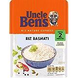 UNCLE BEN'S Riz Basmati - Express 2 min au micro-onde ou à la poêle - 250 g - Pack de 6
