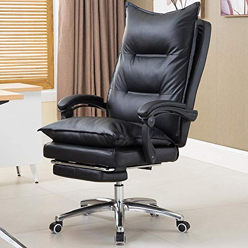 Leder-theke Höhe Hocker (Leder Ergonomischer Chef Stuhl Home Fashion Office Computer Stuhl Massage Recliner Chefsessel)