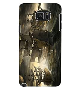 ColourCraft Amazing Ships Design Back Case Cover for SAMSUNG GALAXY NOTE 5