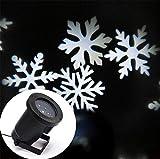 HAPPYMOOD Weihnachten Schneeflocken Projektion Lampe Wasserdicht Umzug Weiß LED Beamer Licht Landschaft zum Weihnachten Party Urlaub Dekorationen
