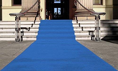 Blau Eventteppich VIP Carpet Läufer Teppich Empfangsteppich in Breite 1 m und Länge 10 m