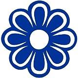 Blume Aufkleber 008, 10 cm, blau