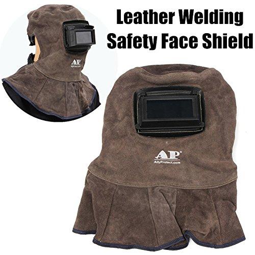 MASUNN Ap-3001 Leder-Schweißhelm Schweiß-Objektiv-Sicherheits-Gesichtsschutz Mit Auto-Dunkel-Filter (T-shirt Dunklen Bücher)
