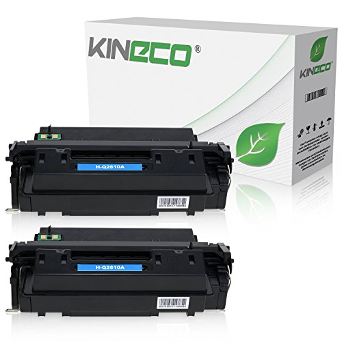 2 Kineco Toner kompatibel zu HP Q2610A Laserjet 2300DTN, 2300L, 2300N, 2300 Series - Schwarz je 6.000 Seiten