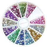 1 Rondell mit ca. 960 Strasssteine rund in 12 verschiedenen Farben