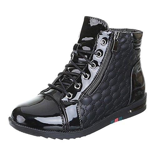 Chaussures, b10H kB-doublure à chaud, loisir Noir - Noir