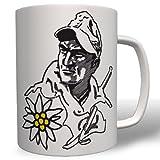 Gebirgsjäger Gebirgstruppe Infanterie Edelweiß Portrait Army Militär - Tasse Becher Kaffee #5560