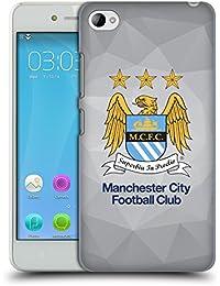 Official Manchester City Man City FC Grey Full Colour Crest Geometric Hard Back Case for Lenovo S90 Sisley