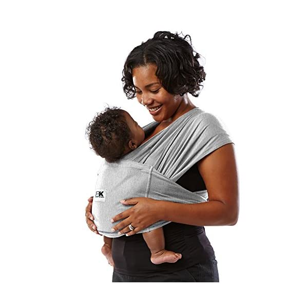 Baby K'tan Baby Carrier Heather, Grey, Medium Baby Ktan Easy to use and put on: no wrapping involved.  5 positions to conveniently carry baby & toddlers from 8 lbs to 35 lbs 100% soft natural cotton with unique one-way stretch Unique hybrid double-loop design holds baby securely and evenly distributes weight across back and both shoulders. washer & dryer safe 4