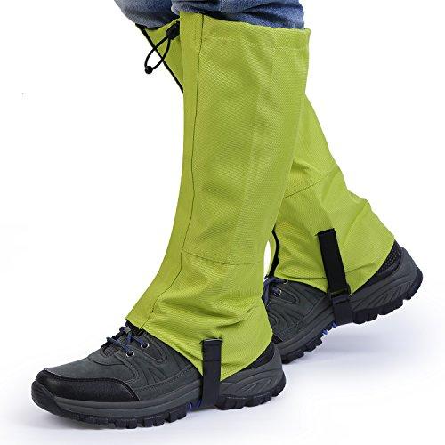 gamaschen schnee OUTAD Wasserdichte im Freien wandernde gehende kletternde Jagd-Schnee Legging Gamaschen (Packung mit 2 Stück)