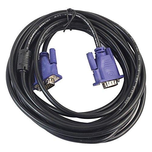 TOOGOO HD VGA Kabel 15 Pin Stecker auf VGA Stecker SVGA Verlaengerungskabel fuer Laptop PC LCD Projektor Monitor 5M (Monitor-verlängerungskabel Geschirmte)