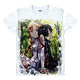 Sword Art Online Kirigaya Kazuto T-Shirt Y?ki Asuna Kostüm Cosplay