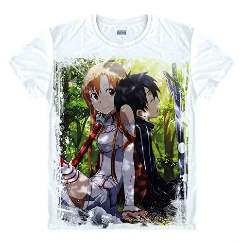Sword Art Online Kirigaya Kazuto T-Shirt Y?ki Asuna Kostüm ()