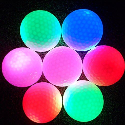 Alomejor Flashing Golf Ball, 1-Farbe-Ball für die Nacht Sport, Training