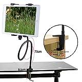 MyncSchwanenhals-Halterung/Ständer für Tablets, verstellbar um 360 Grad, für Samsung Galaxy Tablets & Apple iPad/iPad 2/iPad 3/Neu iPad Retina/iPad 4/iPad Mini 2,3,4/iPad Air/iPad Air 2