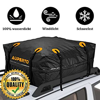 Waterproof car roof box, storage box, foldable roof box, 15 cubic feet, detachable, strong, for holidays and transporting luggage