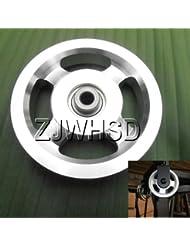 Universal 114mm aluminio rodamientos rueda de polea para gimnasio Fitness ejercicio equipo de repuesto Abbott
