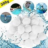 FORMIZON Filter Balls Materiale Filtrante Imballaggio del Sacchetto del OPP della Sfera Filtrante in Polietilene da 300 g, Risciacquo Sabbia Filtrante da 11kg Filtro a Sabbia per Piscina (Bianco)