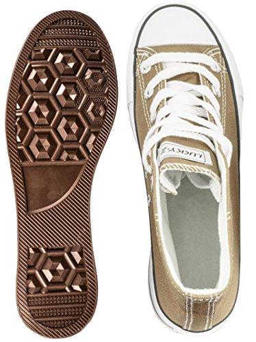 Elara Unisex Kult Sneaker | Chaussures De Sport Confortables Pour Hommes Et Femmes | Chaussures Kaki Haut En Textile