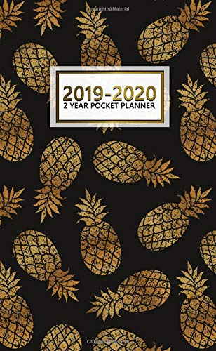 2019-2020 2 Year Pocket Planner: Pretty Gold Pineapple Planner with Phone Book, Password Log and Notebook. Nifty 24 Month Pineapple Planner and Organizer. por Nifty Notes