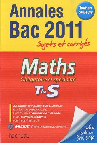 Maths Tle S Obligatoire et spécialité : Sujets et corrigés