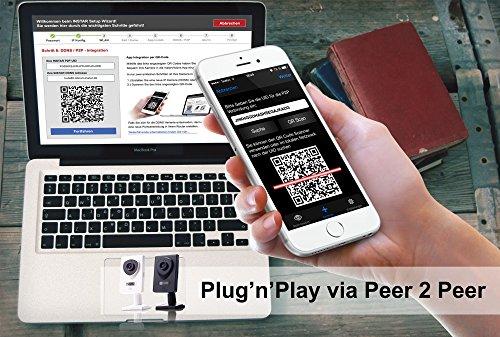 INSTAR IN-6001HD HD IP Kamera / Überwachungskamera / ipcam mit LAN / Wlan / Wifi zur Überwachung oder als Baby Kamera (4 IR LED Infrarot Nachtsicht - 5