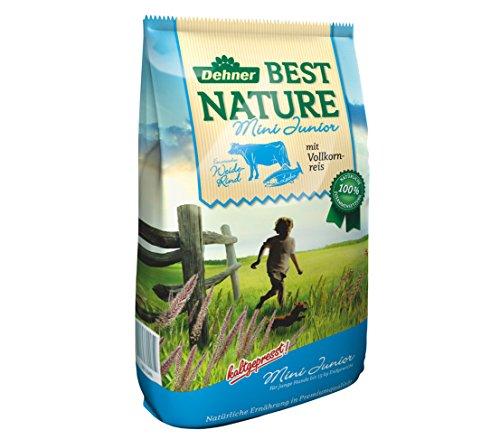 Dehner Best Nature Hundetrockenfutter Mini Junior, Rind und Lachs, 5 kg