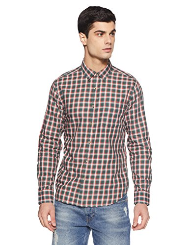 Amazon Brand- Symbol Checkered Regular Fit Casual Shirt (SS18-SMCS-122_Apline_Medium)