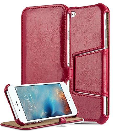 Preisvergleich Produktbild Cadorabo Hülle für Apple iPhone 6 / iPhone 6S - Hülle in Passion Rot – Handyhülle Ohne Magnetverschluss mit Standfunktion und Eckhalterung - Hard Case Book Etui Schutzhülle Tasche Cover