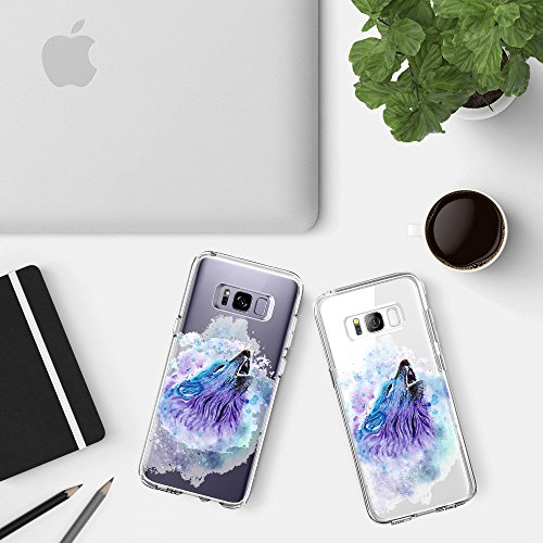 Coque Samsung Galaxy S8 Pacyer® TPU Cover Silicone Anti-Scratch Bumper Housse Absorption de Choc Clair Design Motif Transparent Pour Samsung Galaxy S8 6