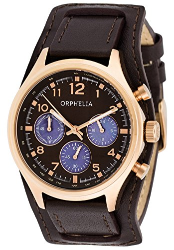 Orphelia Damen-Armbanduhr Vogue Chronograph Quarz Leder