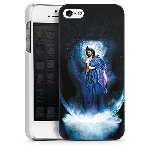Apple iPhone 5s Housse Étui Protection Coque Femme Femme Fille CasDur blanc