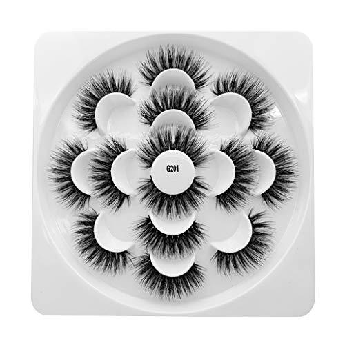 Goosun Fake, pestañas magnéticas reutilizables, sin pegamento, requiere pestañas falsas en 3D, 7 pares Ultra suave y ligero para un maquillaje natural y festivo