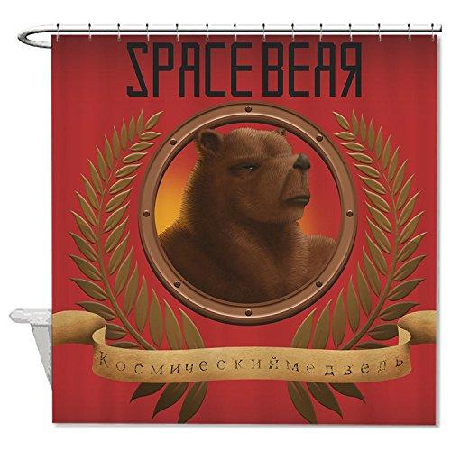 whiangfsoo marrone orso su sfondo rosso casa Decro Tenda da doccia per bambini, #8, 72