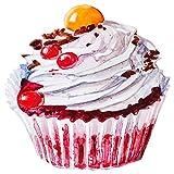 dekodino Wandtattoo Cupcake mit Sahne und Früchten Küchen Wanddeko