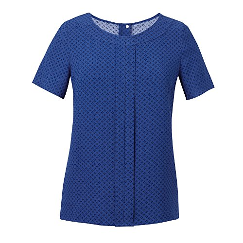 Brook Taverner Damen Verona Crepe De Chine Kurzarm Bluse (20UK/46DE) (Königsblau/Marineblau) (Bluse Crêpe De Chine)