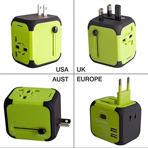 Travel Adapter Adattatore Universale da Viaggio con 2 USB 3.0 (US / EU / UK / AU)Caricatore...