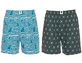 Spykar Mens White and Olive Combo Boxer Shorts - (Large)