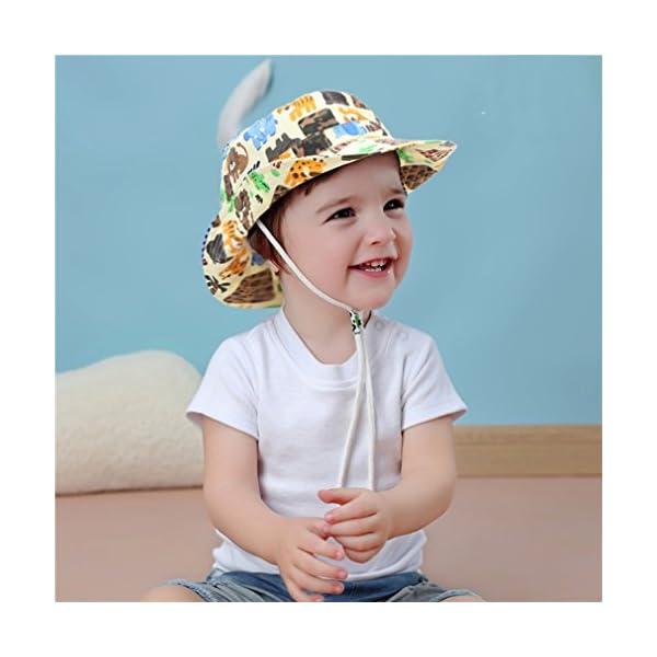Cloud Kids Bob - Sombrero para bebé, unisex, algodón, protección contra rayos UV, verano, plegable, viaje 3