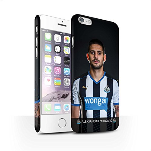 Offiziell Newcastle United FC Hülle / Matte Snap-On Case für Apple iPhone 6S / Pack 25pcs Muster / NUFC Fussballspieler 15/16 Kollektion Mitrovic