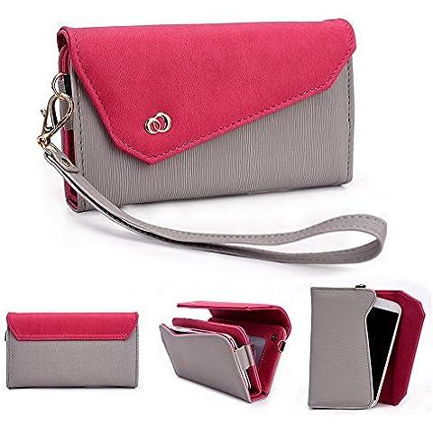 Kroo Link Serie universale Borsa a tracolla con portafoglio donna, compatibile con Prestigio MultiPhone 4040DUO/Multiphone (Pelle Epi Portafoglio)