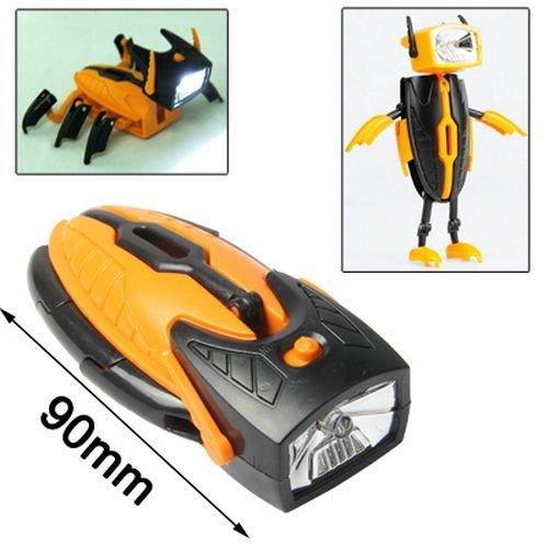 Taschenlampe Transformer Insekt Handscheinwerfer Spielzeug Käfer Spinne Licht, Color / Farbe:GELB-SCHWARZ (Stehend Taschenlampe)